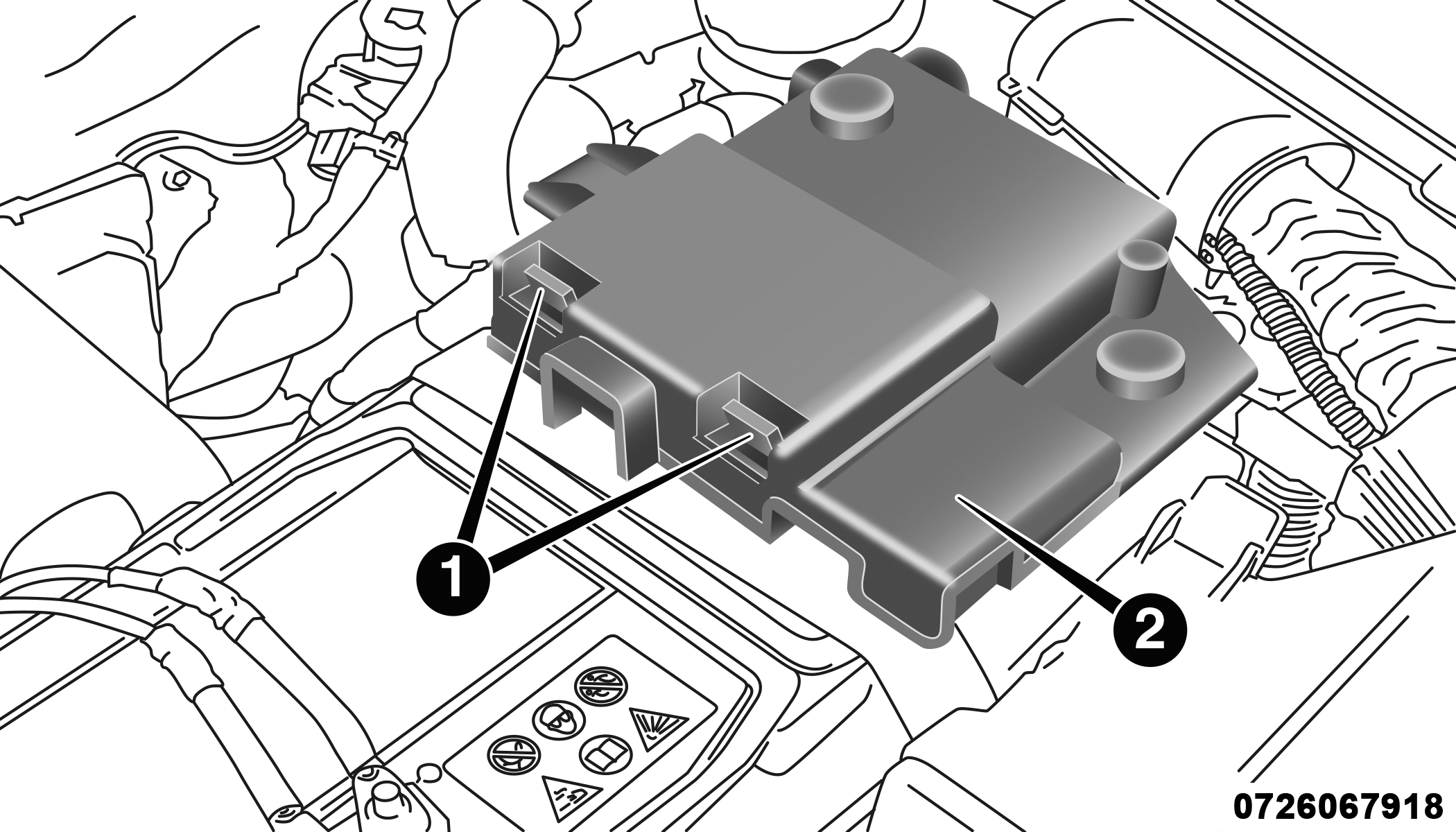 Official Mopar Site Service Parts Accessories More A Body Fuse Box Battery Cover Location